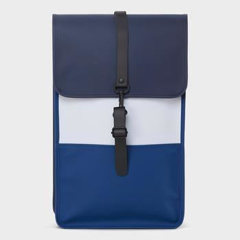 Rains Color Block Backpack - Blue/Ice Grey