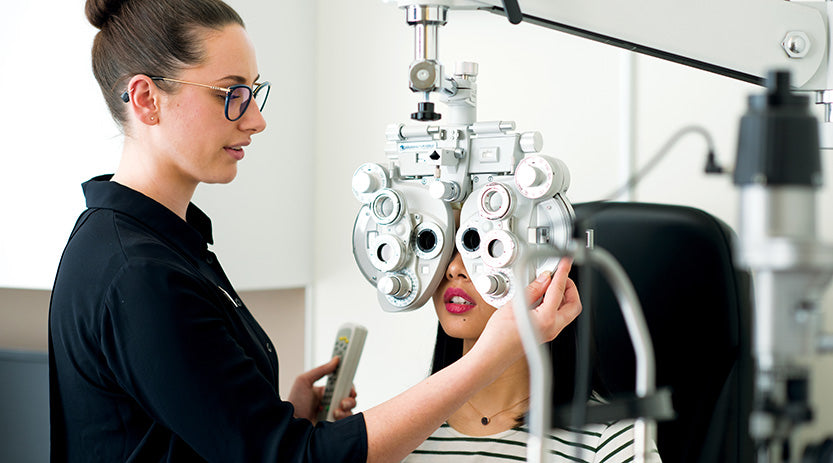 Equipment used in an eye test