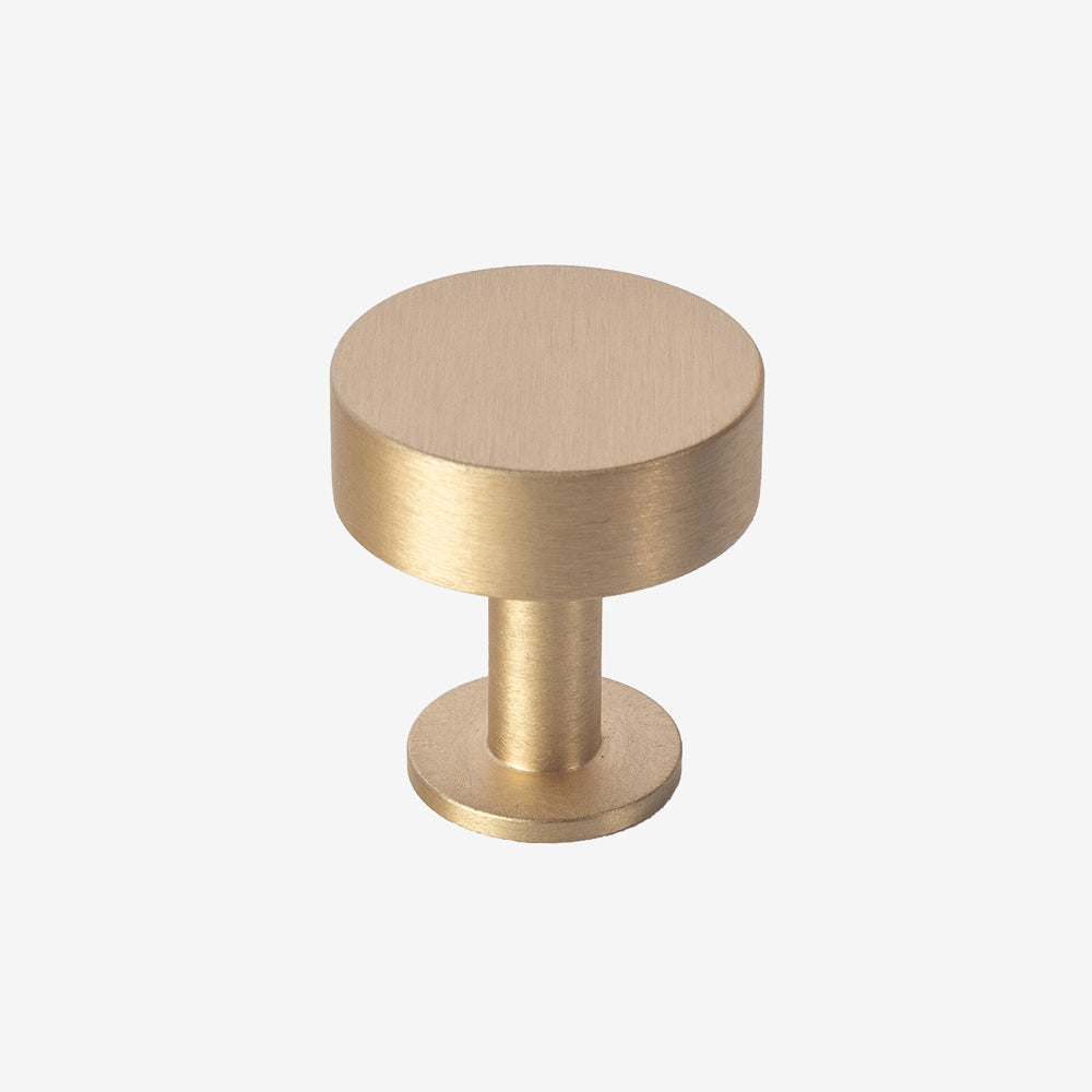 Brushed Brass Disc Knob