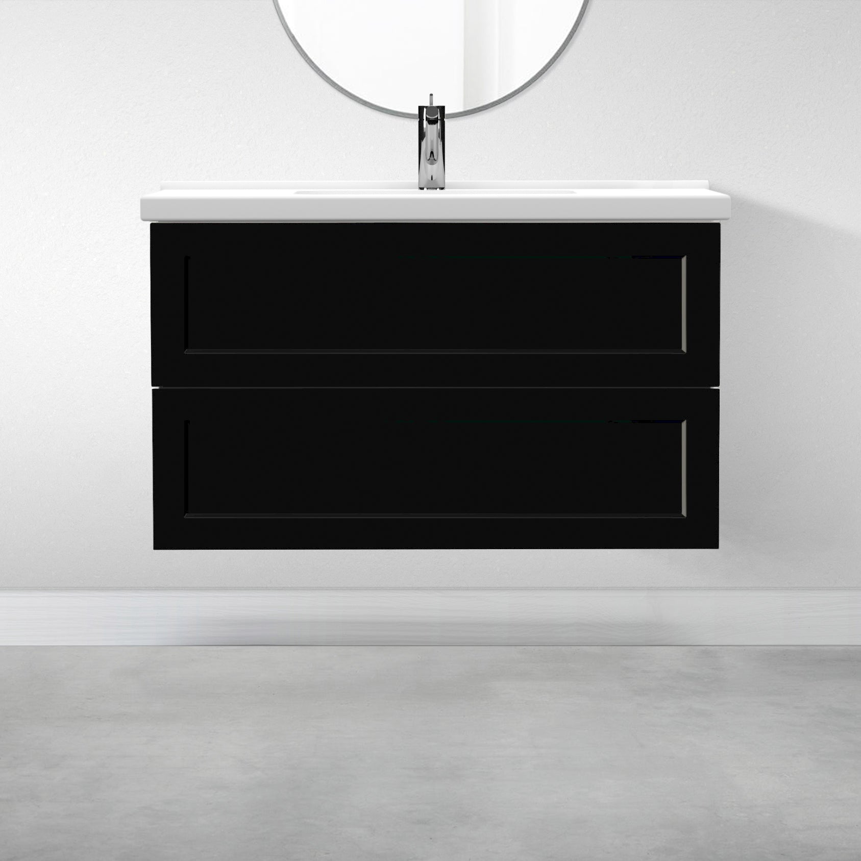 "2 Drawers - 39 3/8"" for Godmorgon Supermatte Shaker / Black"