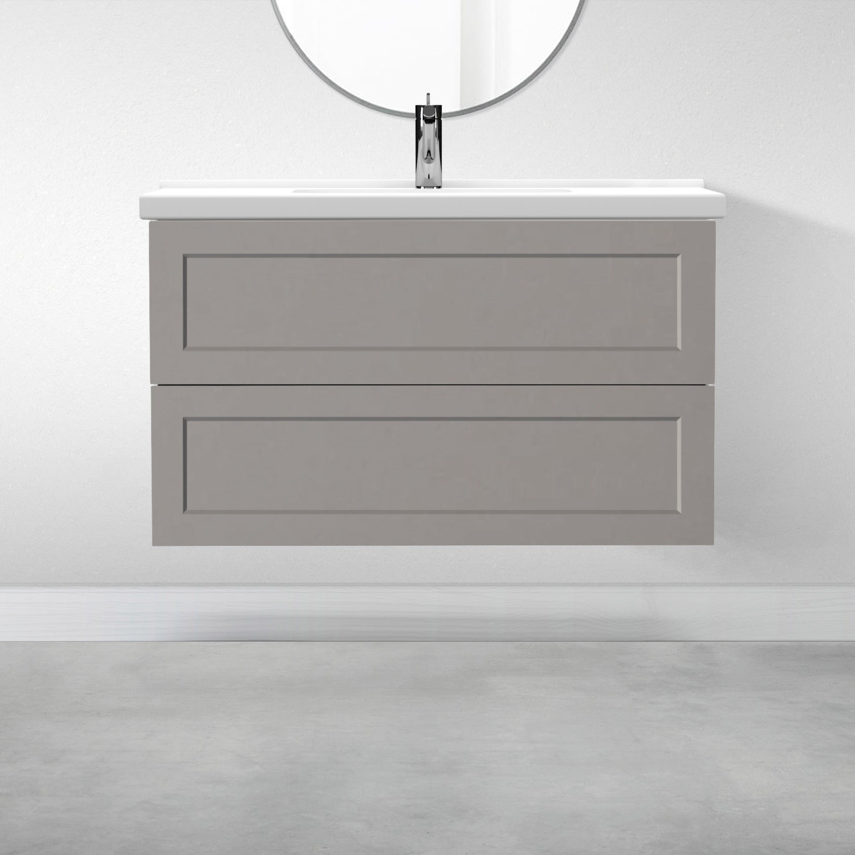 "2 Drawers - 39 3/8"" for Godmorgon Supermatte Shaker / Light Grey"