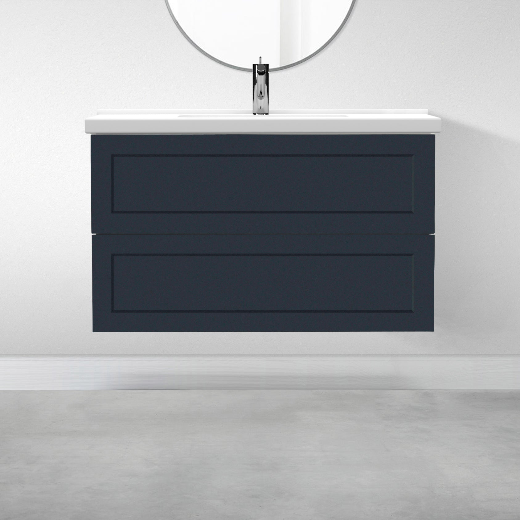 "2 Drawers - 39 3/8"" for Godmorgon Supermatte Shaker / Night Sky"