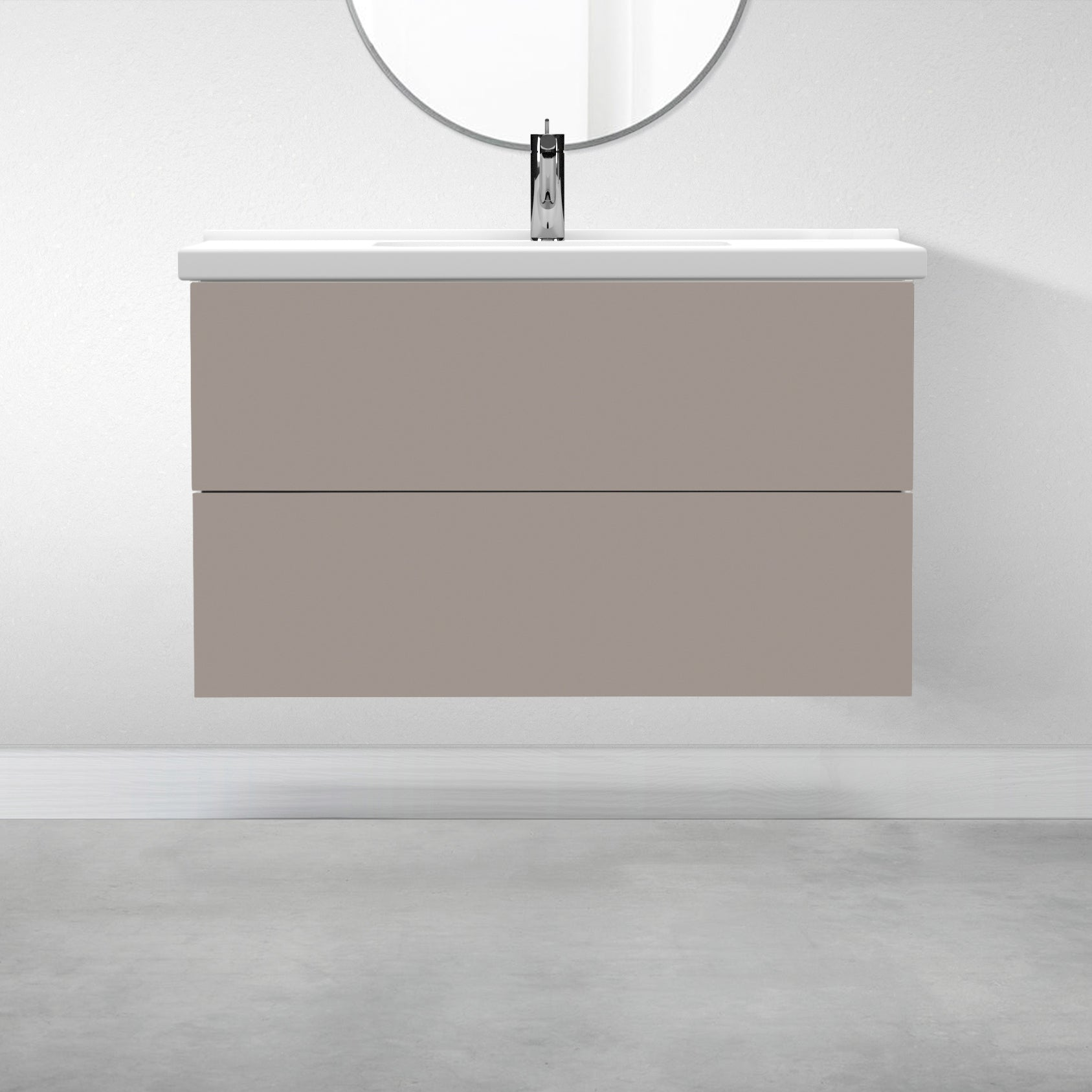 "2 Drawers - 39 3/8"" for Godmorgon Supermatte Slab / Desert Grey"