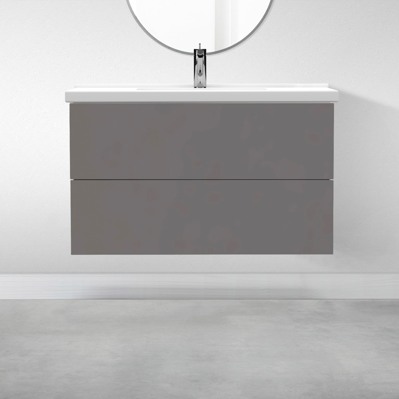 "2 Drawers - 39 3/8"" for Godmorgon Supermatte Slab / Grey"