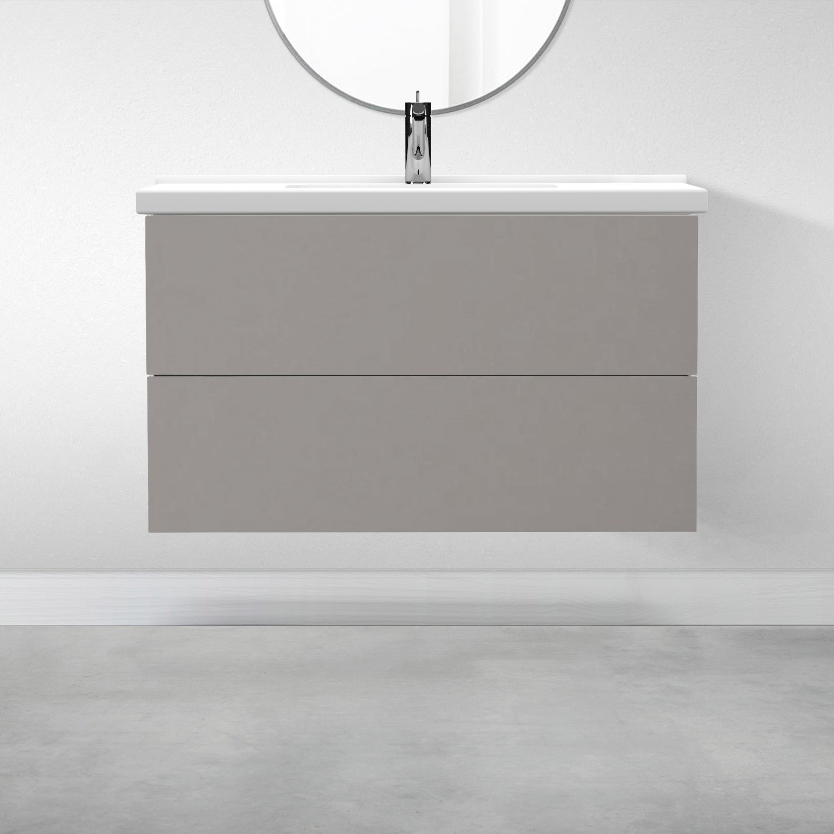"2 Drawers - 39 3/8"" for Godmorgon Supermatte Slab / Light Grey"
