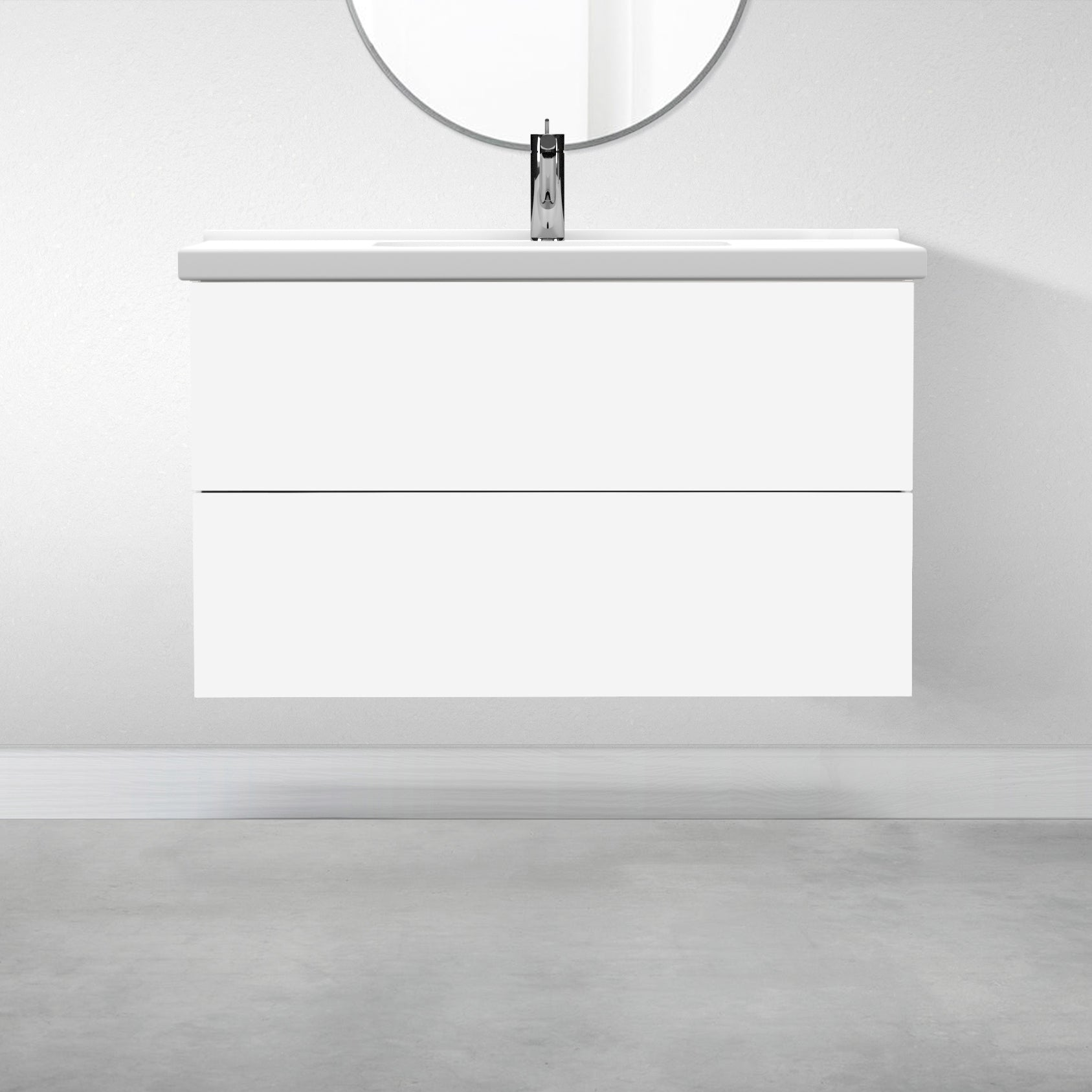 "2 Drawers - 39 3/8"" for Godmorgon Supermatte Slab / White"
