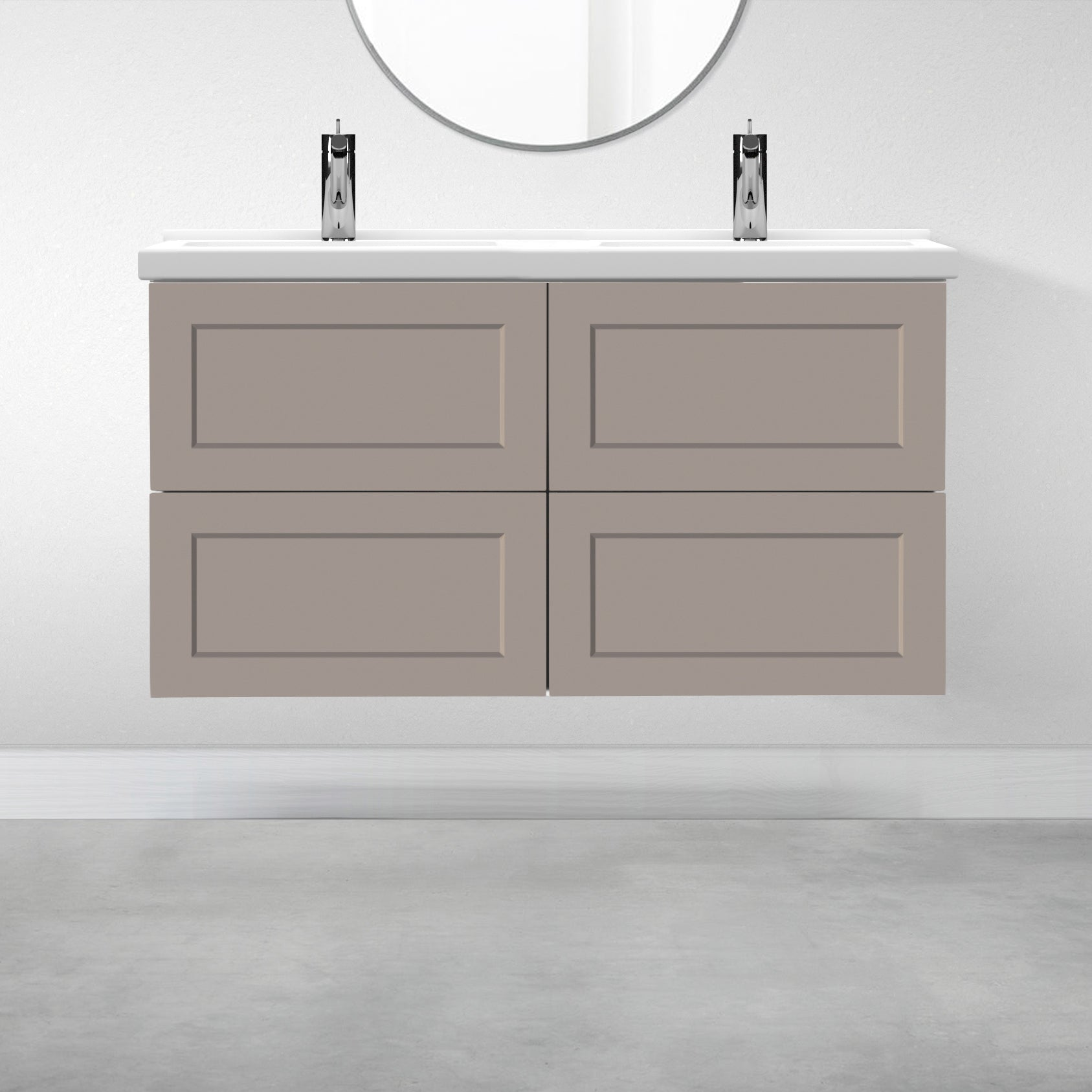 "4 Drawers - 47 1/4"" for Godmorgon Supermatte Shaker / Desert Grey"