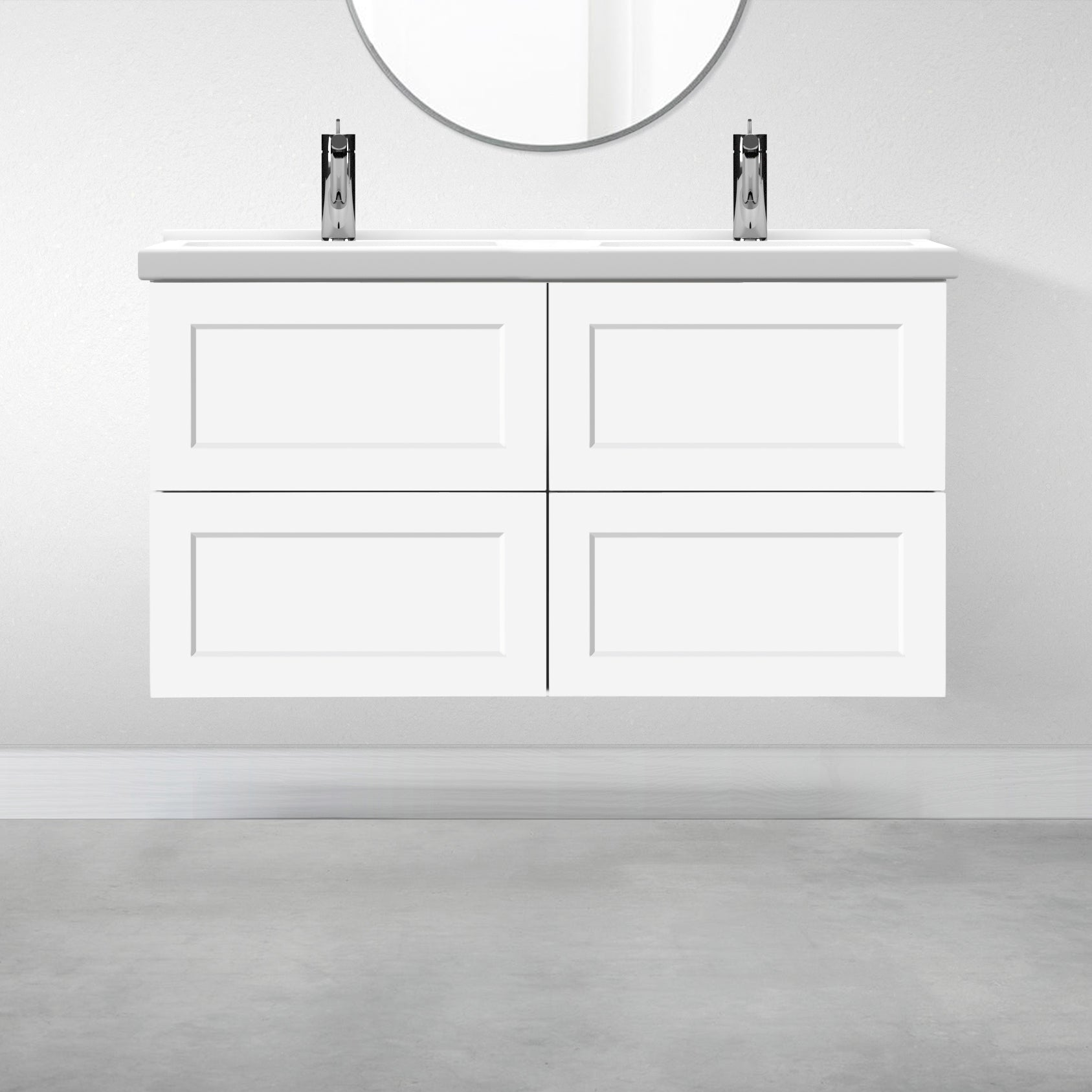 "4 Drawers - 47 1/4"" for Godmorgon Supermatte Shaker / White"