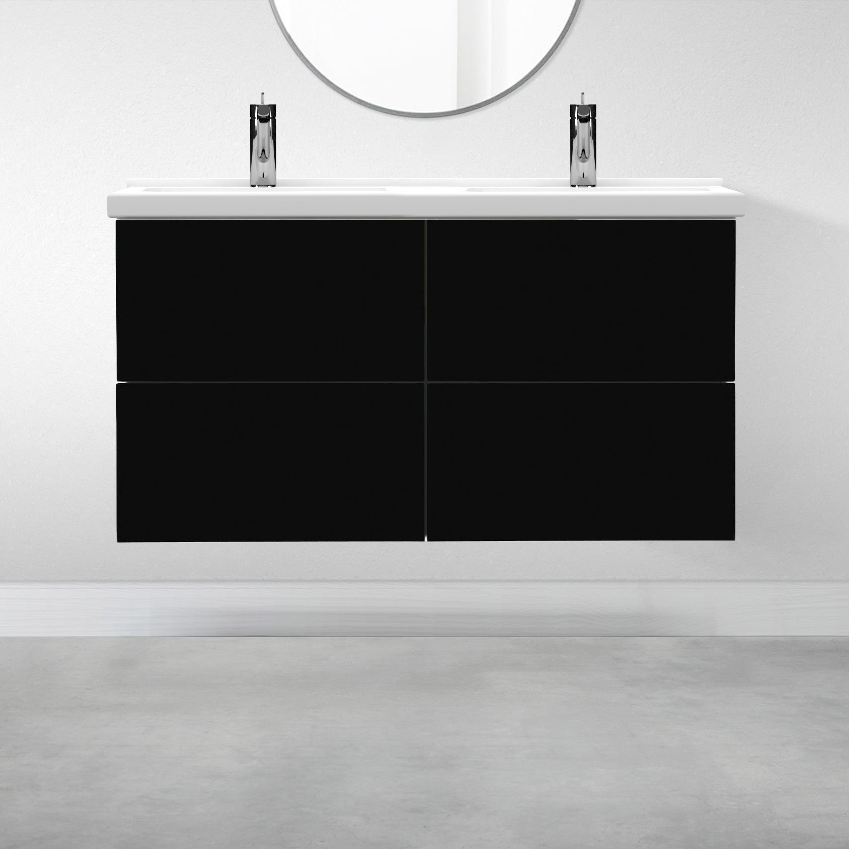 "4 Drawers - 47 1/4"" for Godmorgon Supermatte Slab / Black"