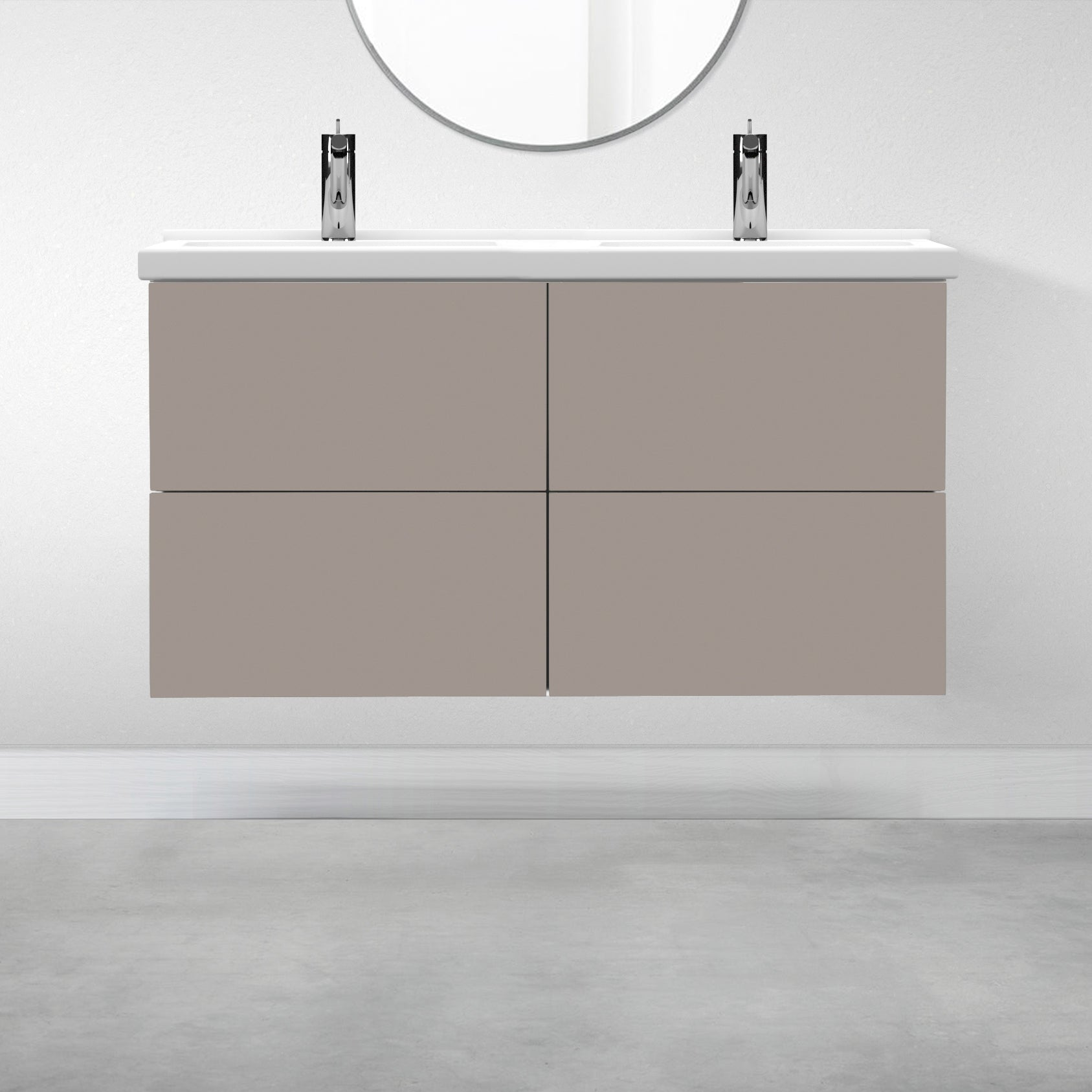 "4 Drawers - 47 1/4"" for Godmorgon Supermatte Slab / Desert Grey"