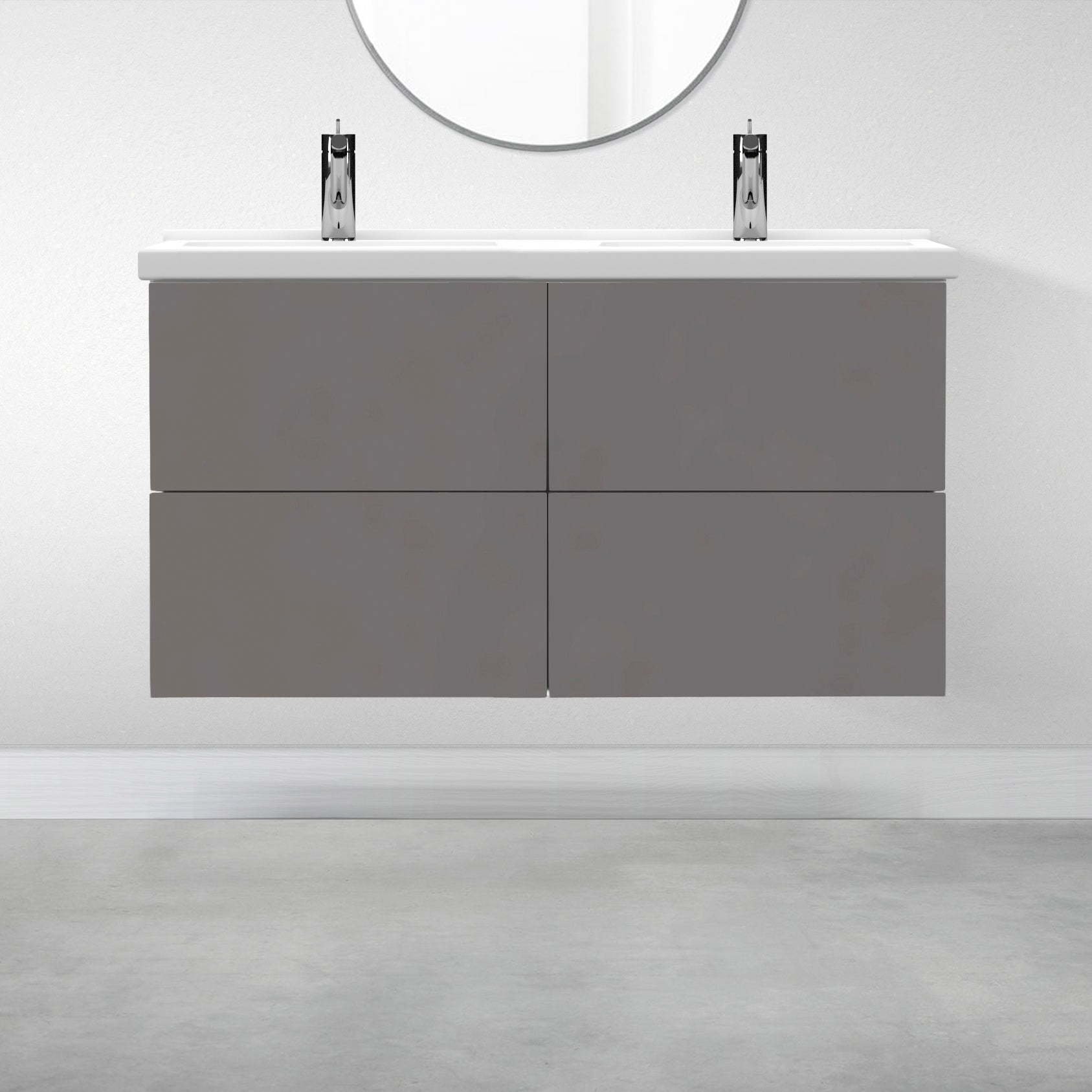 "4 Drawers - 47 1/4"" for Godmorgon Supermatte Slab / Grey"