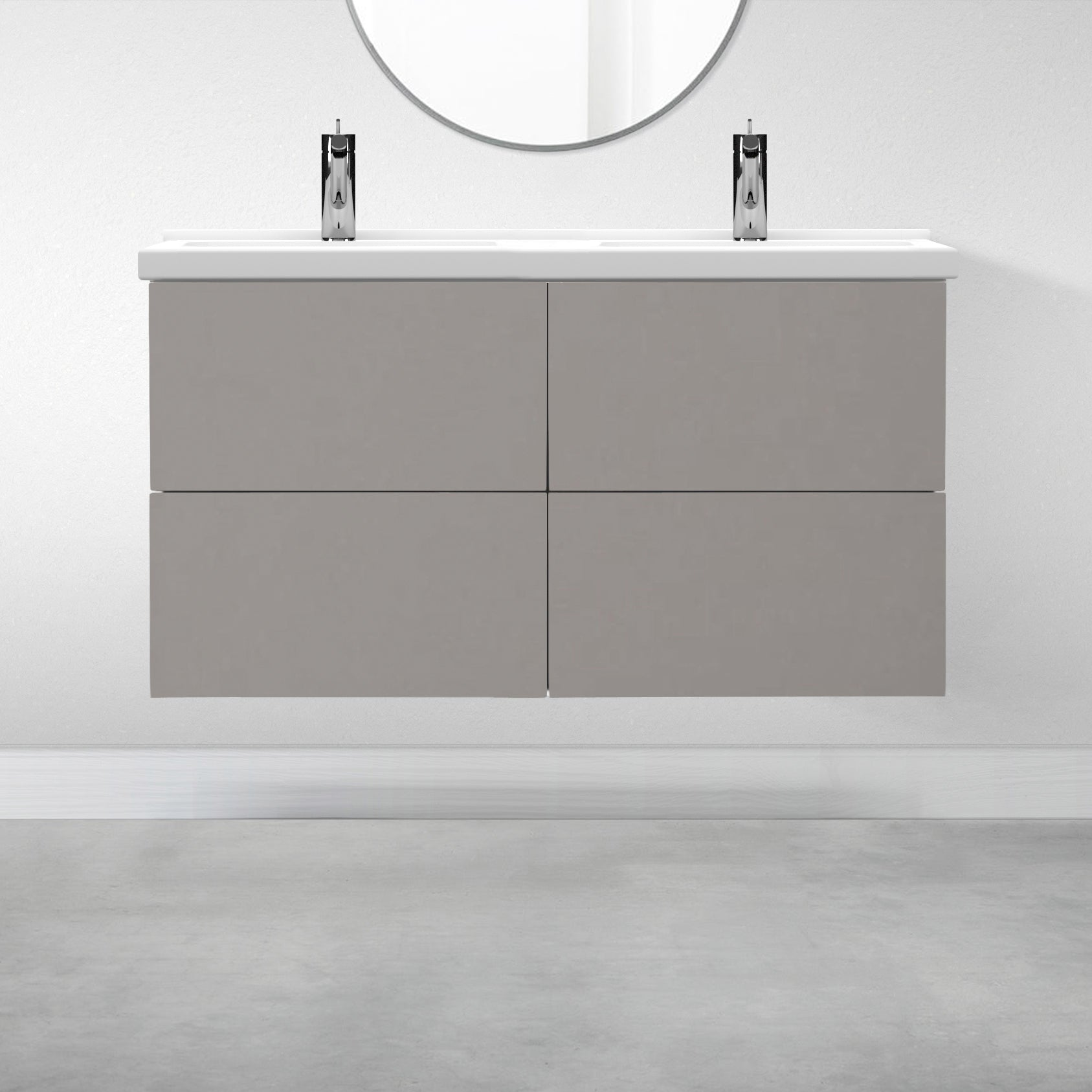 "4 Drawers - 47 1/4"" for Godmorgon Supermatte Slab / Light Grey"