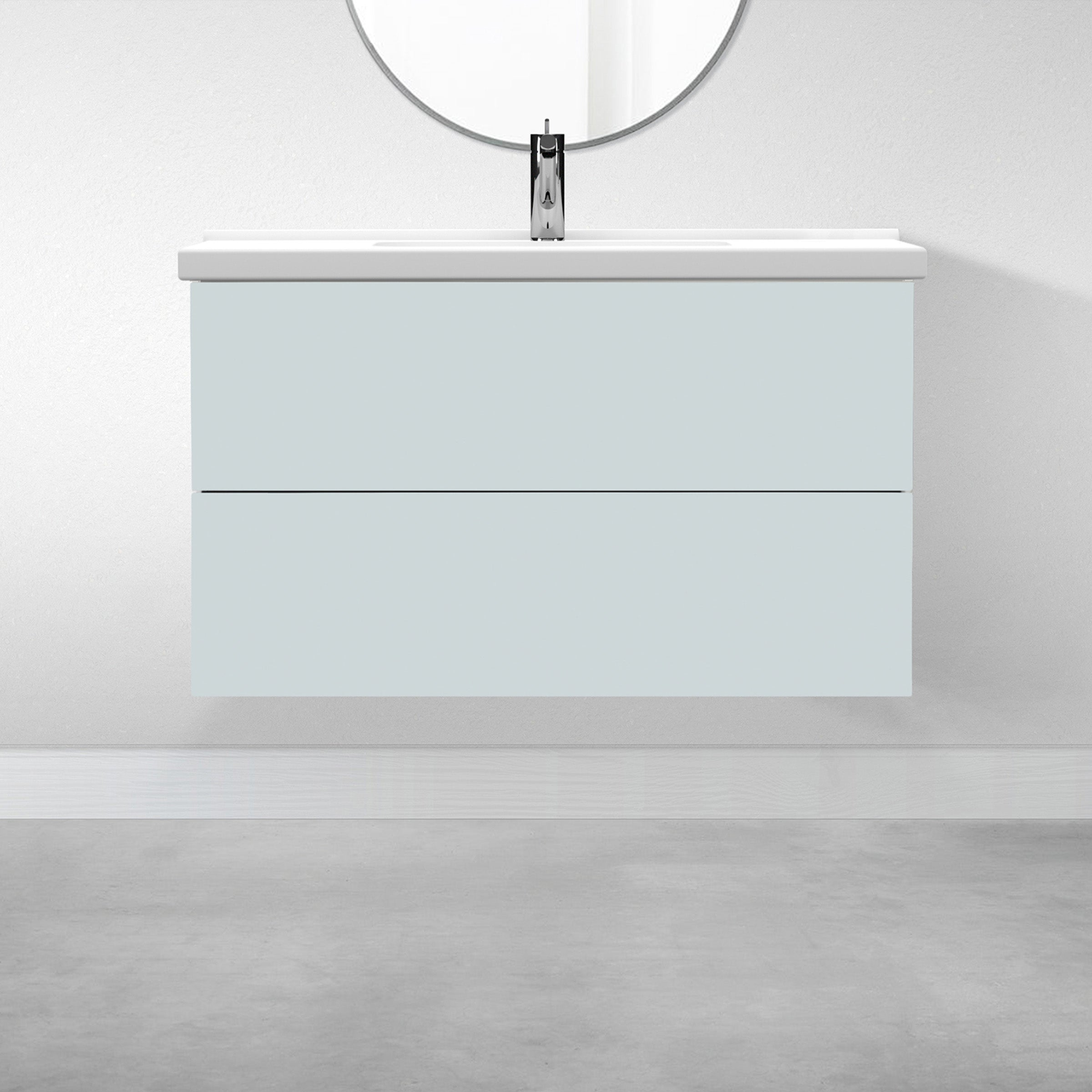 "2 Drawers - 39 3/8"" for Godmorgon Supermatte Slab / Agave"