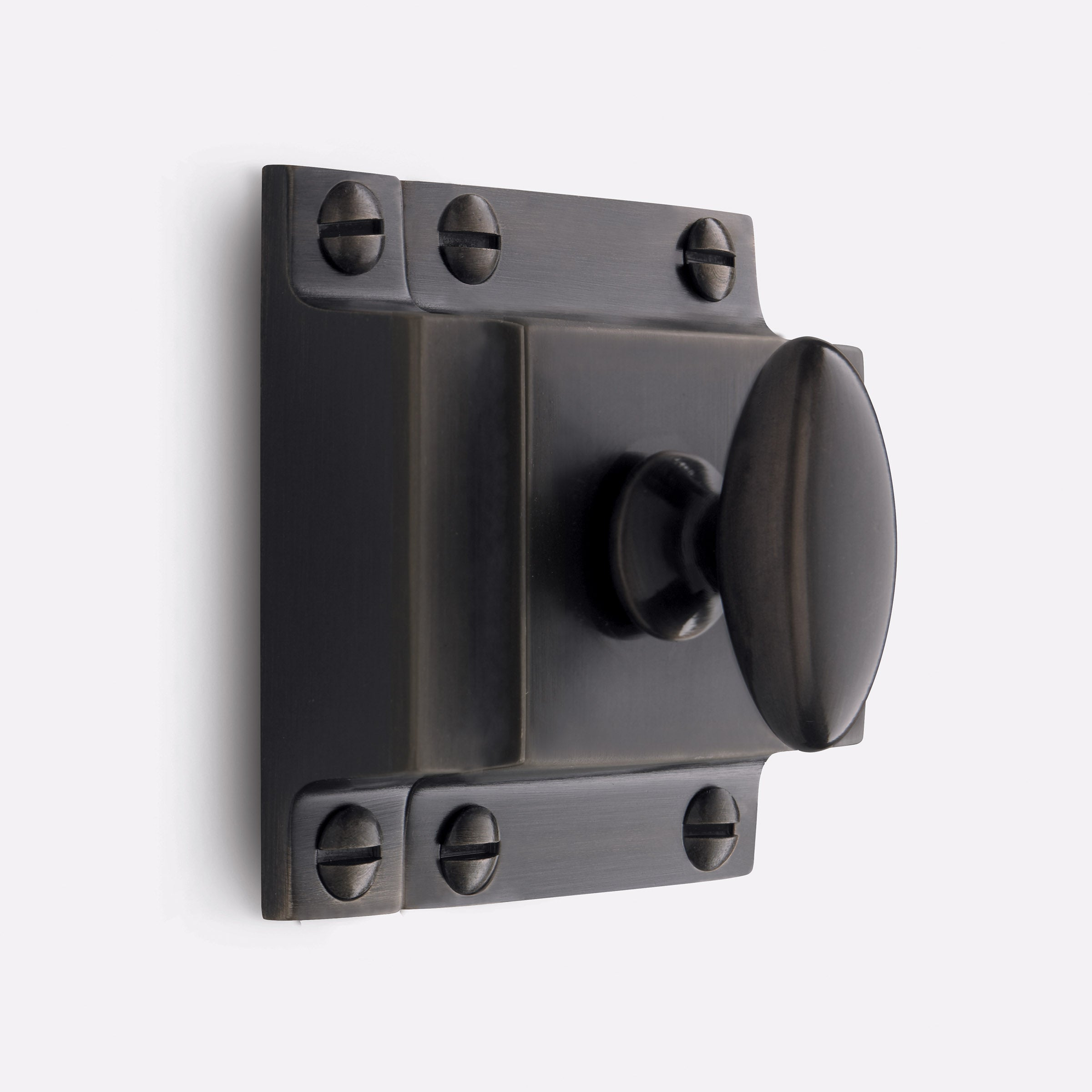Large Oval Cupboard Latch by Rejuvenation Oil-Rubbed Bronze