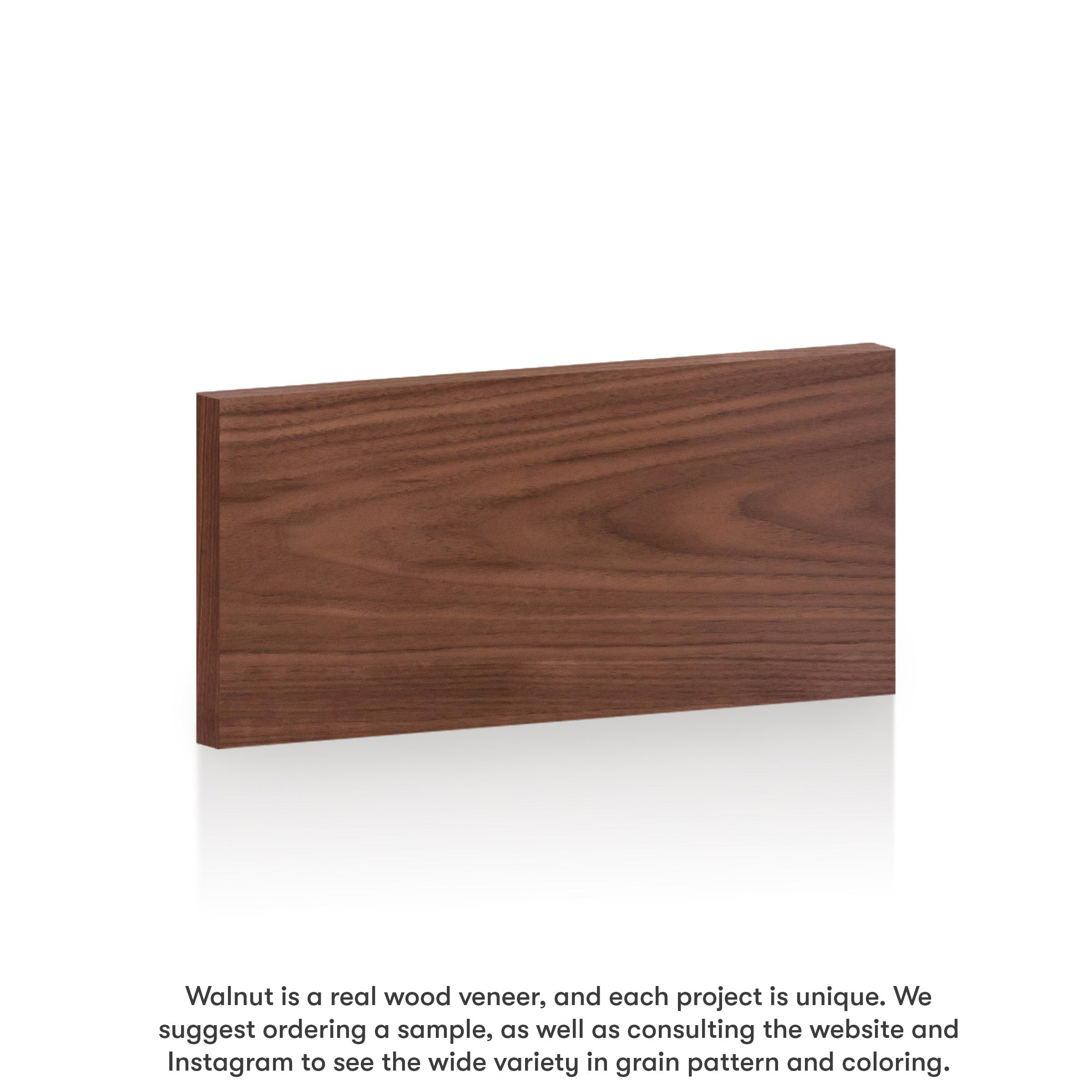 "Walnut Slab Drawer for Akurum (Horizontal Grain) 21"" / 6"" / Walnut - Horizontal"