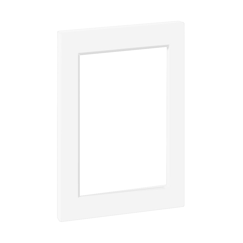 "White Supermatte Shaker Door for Sektion 12"" / 30"" Glass-ready / White"