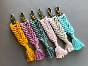 Herringbone Key Chain