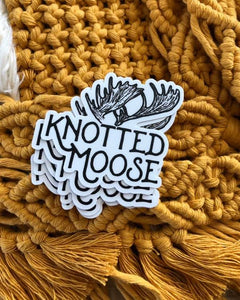 Knotted Moose Sticker