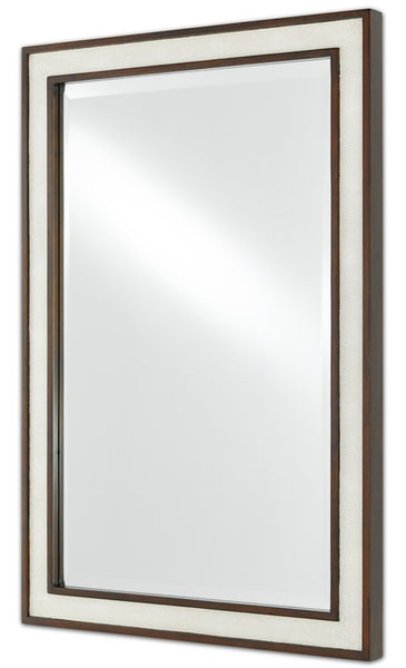 Currey and Company Evie Shagreen Mirror 1000-0064