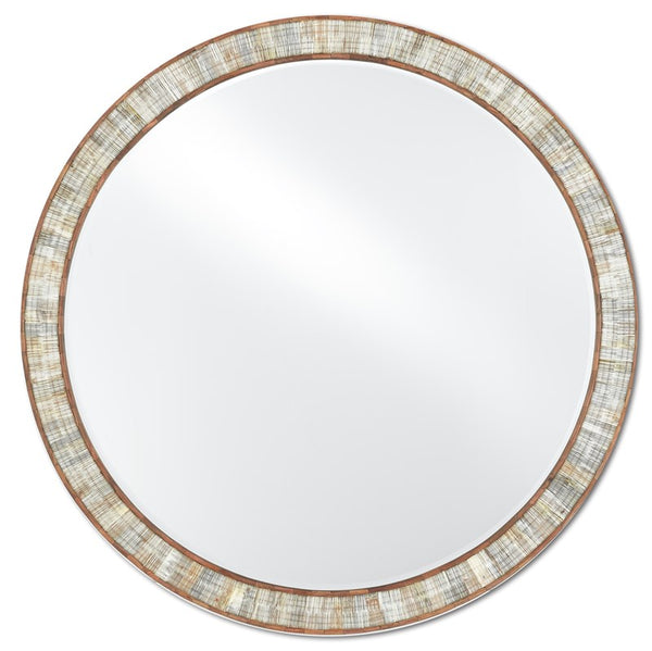 Currey and Company Hyson Round Mirror 1000-0070