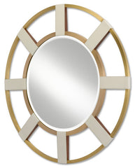 Currey and Company Camille Round Mirror 1000-0083