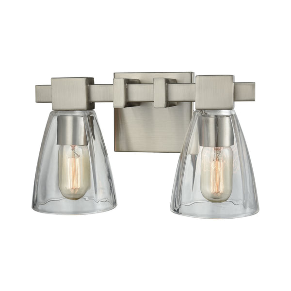Lovecup Satin Nickel Bathroom Vanity Light 2-Lights