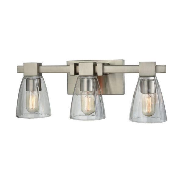 Lovecup Satin Nickel Bathroom Vanity Light 3-Lights