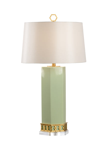 Shayla Copas Designs Miriam Table Lamp with Acrylic Base - Pistachio 69765