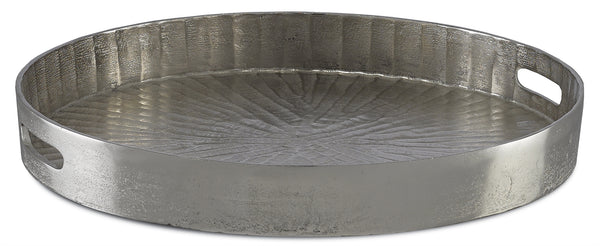 Currey and Company Luca Silver Large Tray 1200-0029