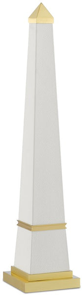 Currey and Company Pharaoh White Small Obelisk 1200-0146
