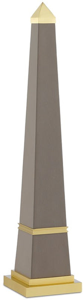 Currey and Company Pharaoh Taupe Small Obelisk 1200-0148