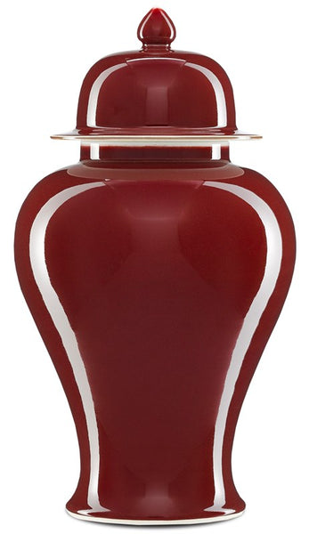 Currey and Company Oxblood Medium Ginger Jar 1200-0245