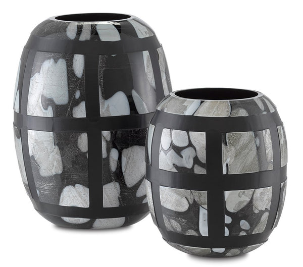 Currey and Company Schiappa Glass Vases Set of 2 1200-0377