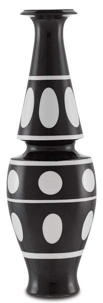 Currey and Company De Luca Black and White Vase 1200-0386