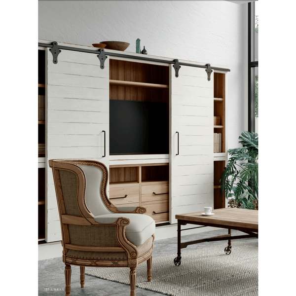 Sonoma Media Cabinet with Sliding Doors