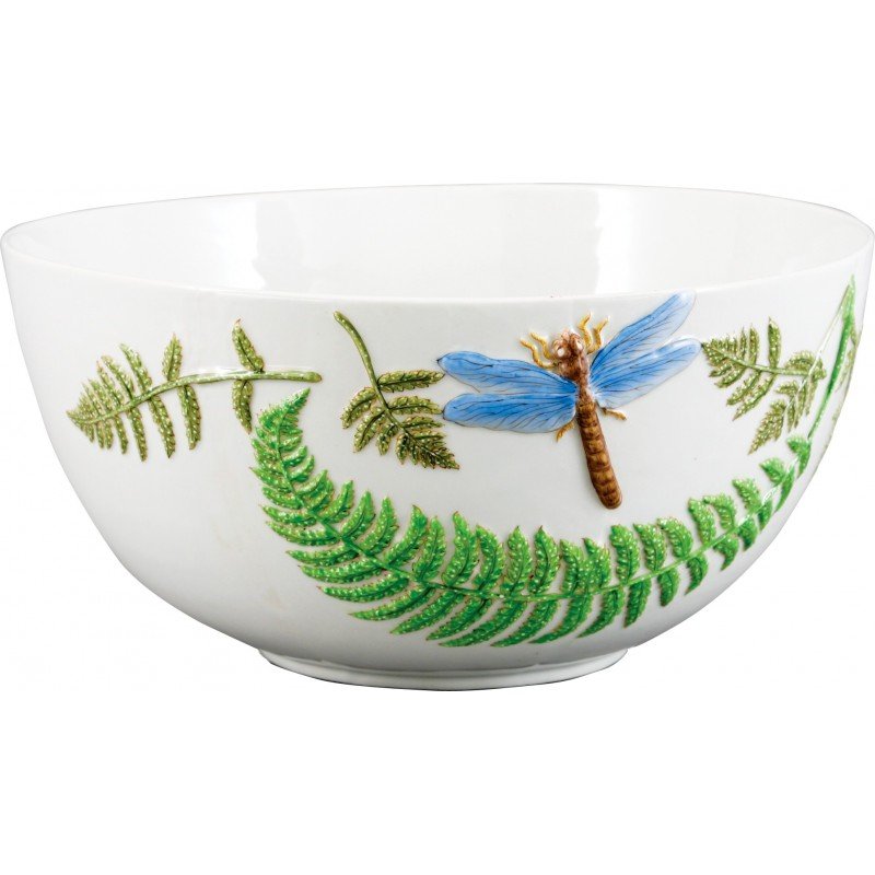Lovecup Hand Painted Porcelain Round Dragonfly Bowl L614