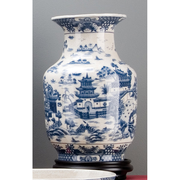 Lovecup Blue Willow Porcelian Vase L3666