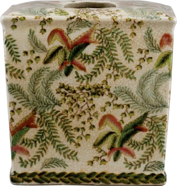 Lovecup Ceramic Fern Pattern Tissue Box Holder L910