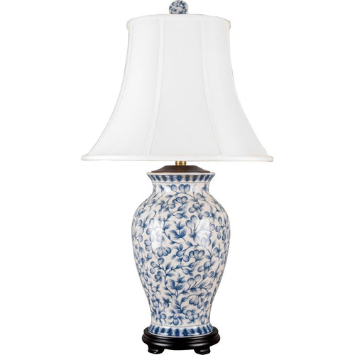 Lovecup BLUE AND WHITE FILIGREE PORCELAIN TABLE LAMP L053