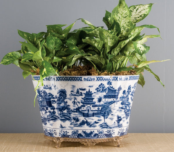 Lovecup Blue and White Archer Planters