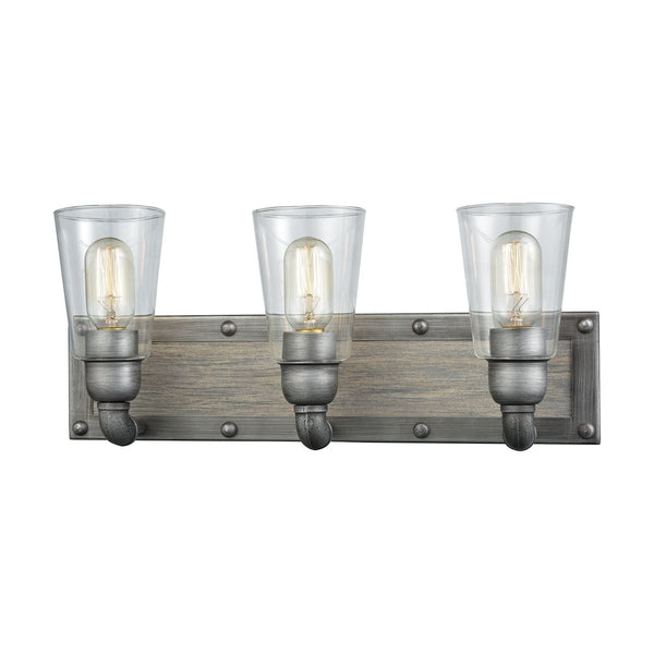 Lovecup Weathered Zinc Bathroom Vanity 3-Lights