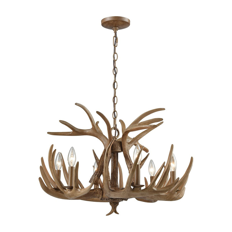 Lovecup Antler Chandelier - Natural Bronw