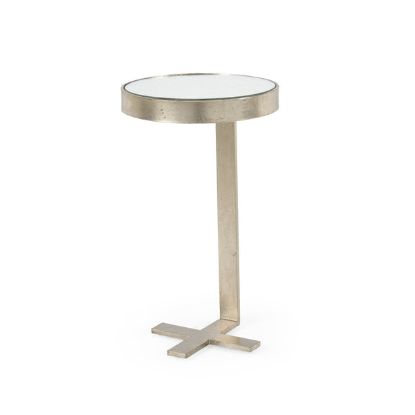 Chelsea House Mitchell Side Table - Silver 382003