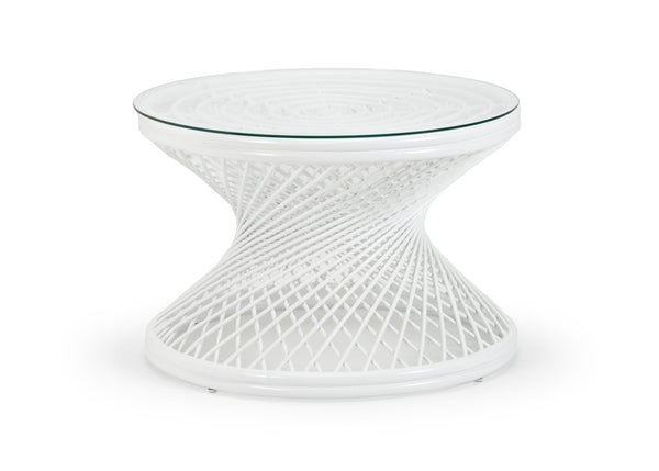 Chelsea House Rattan Coffee Table - White 384588