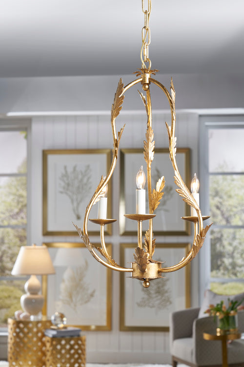 Chelsea House Petite Chandelier - Gold 69168