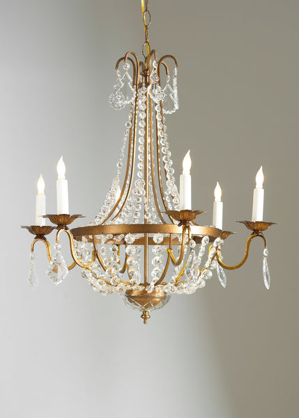 Chelsea House Crystal Drops and Chains Chandelier 68005