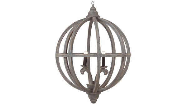 Lovecup Weathered Gray Axel Orb Chandelier L832