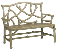 Currey and Company Woodland Bench 2705