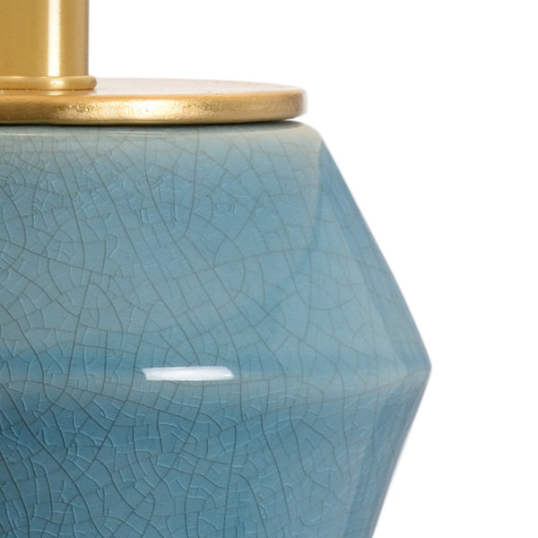 Chelsea House Gray Blue Crackle Glazed Ceramic Laurel Lamp - Midnight 69475