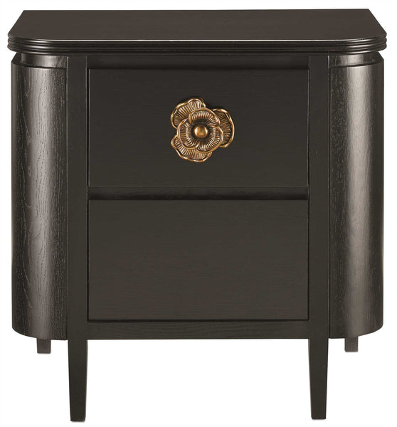 Currey and Company Briallen Nightstand, Caviar Black 3000-0098